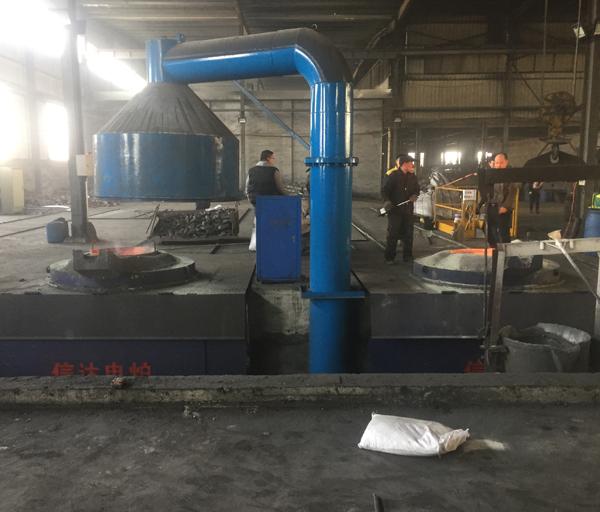 5吨一拖二钢壳炉应用现场